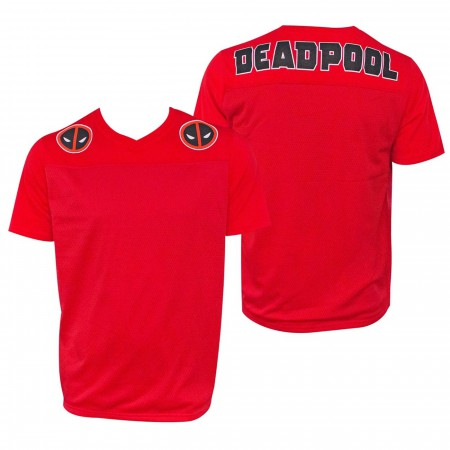 Deadpool Men's Red Football Jersey T-Shirt