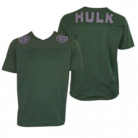 Incredible Hulk Football Jersey Green Men's T-Shirt
