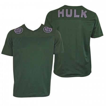 Incredible Hulk Football Jersey Men's Green T-Shirt