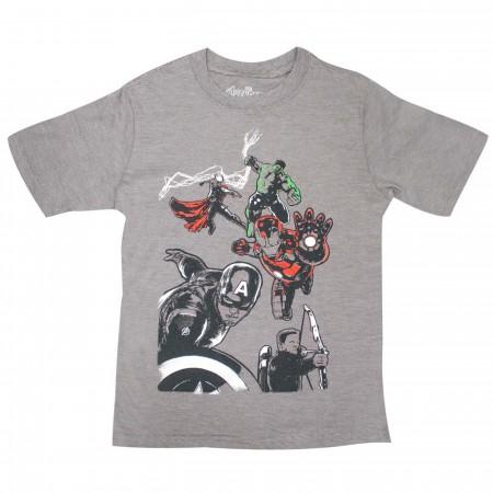 Marvel Avengers Team Graphic Boys Ringer T-shirt