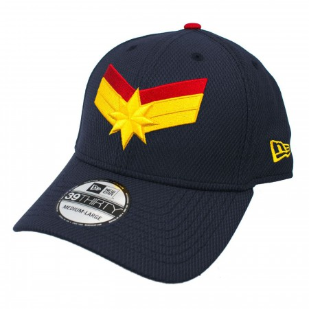 Captain Marvel Navy New Era 39Thirty Flex Fit Hat