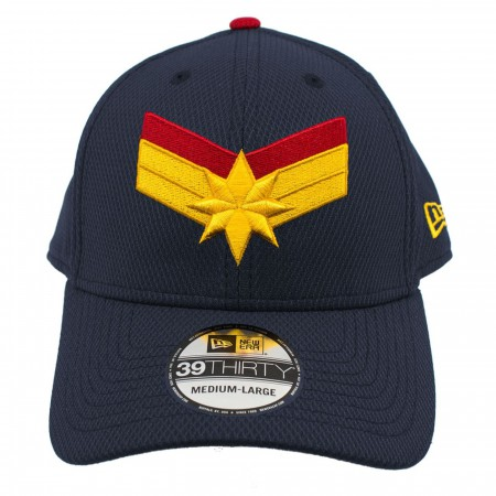 Captain Marvel Navy New Era 39Thirty Flex Fit Hat