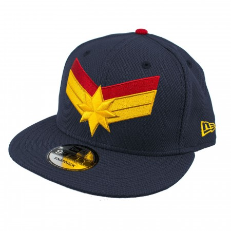 Captain Marvel Navy Scarlet New Era 950 Adjustable Hat