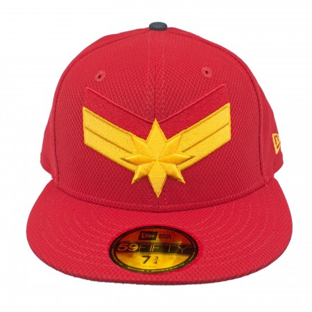 Captain Marvel Scarlet Red New Era 59Fifty Fitted Hat