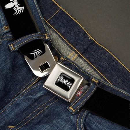Venom Spider Logo Full Color Black Seatbelt Belt