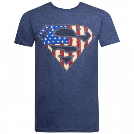 Superman Patriotic Symbol Men's T-Shirt