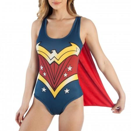 DC Comics Wonder Woman Bodysuit with Cape