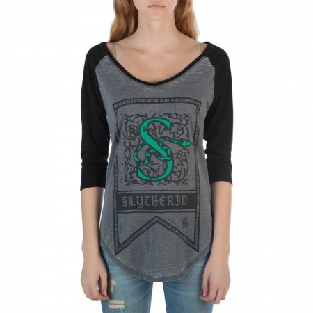 Harry Potter Slytherin Women's Baseball T-Shirt