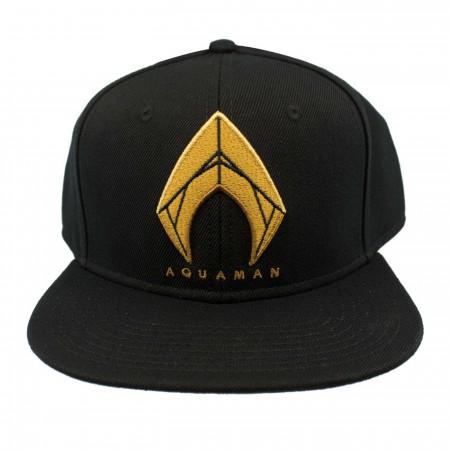 Aquaman Icon Embroidered Snapback Flatbill Hat