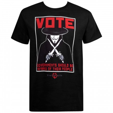 V for Vendetta Vote Poster Men's T-Shirt