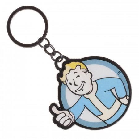 Fallout Vault Boy Logo Keychain