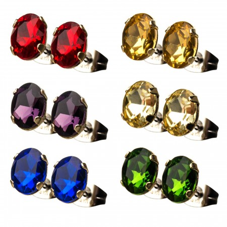 Infinity Gem 6-pack Stud Earrings