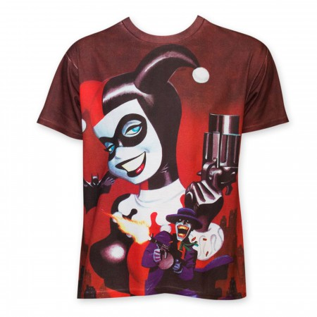 Harley Quinn Gun Sublimated Men's T-Shirt