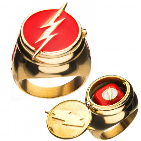Flash Ring with Costume Flip Lid