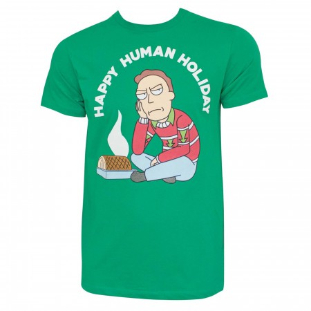 Rick and Morty Happy Human Holiday T-Shirt