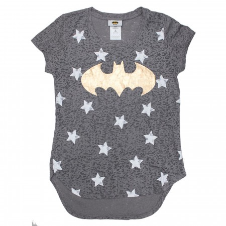 Batman Gold Stars DC Girl's T-Shirt