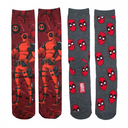 Deadpool Smiles 2-pack Crew Socks