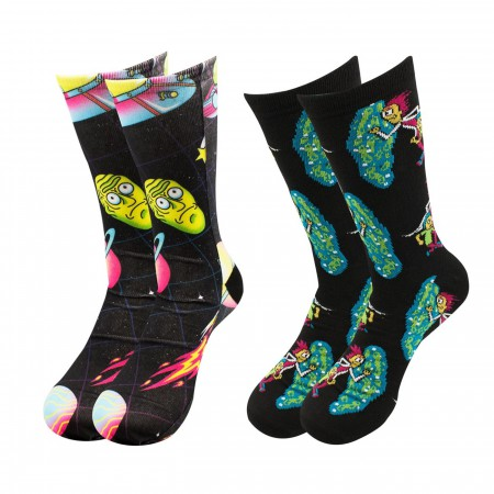Rick and Morty Sublimated 2-pack Crew Socks