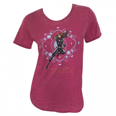 Black Widow Attack Women's Maroon T-Shirt