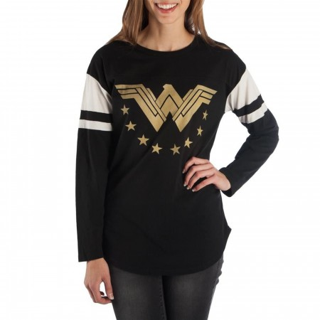 Wonder Woman Football Long Sleeve Women's T-Shirt