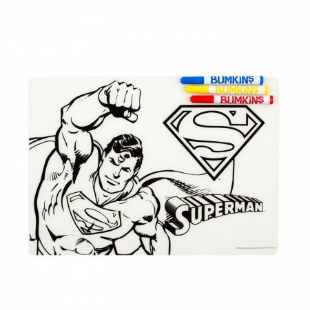 Superman Dry Erase Placemat