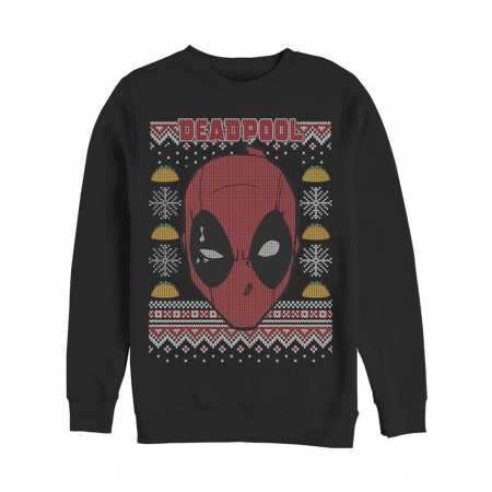 Deadpool Mask Ugly Christmas Sweater Design Sweatshirt