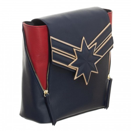 Captain Marvel Mini Backpack with Front Zip Detail