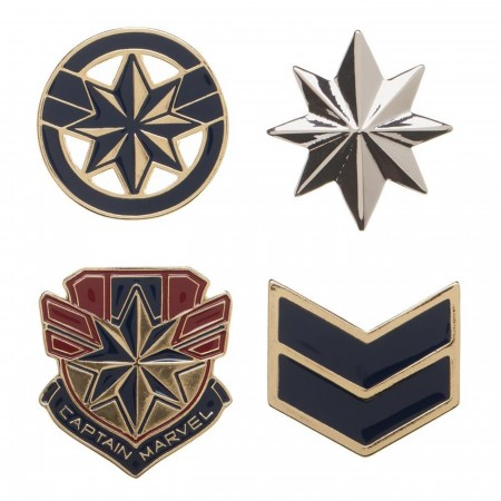 Captain Marvel Lapel Pin Set