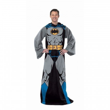 Batman Adult Blanket Robe with Sleeves