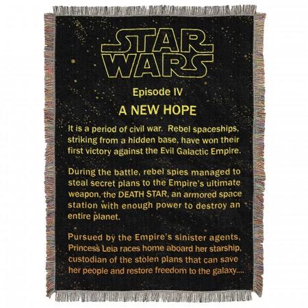 Star Wars Before Hope Tapestry Throw