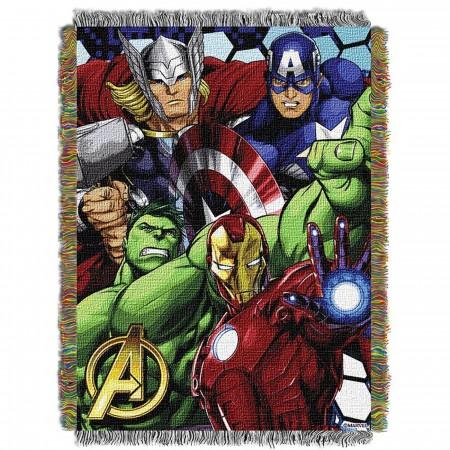 Avengers Retro Tapestry Throw