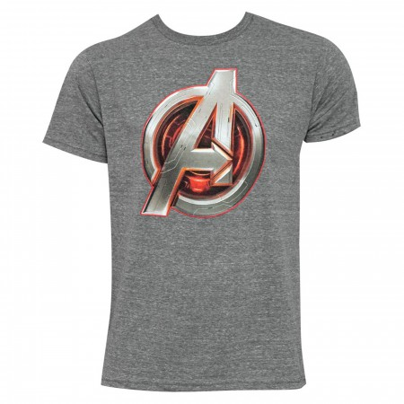 Avengers Core Icon Men's Grey T-Shirt