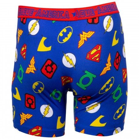 Justice League Symbols Boxer Briefs