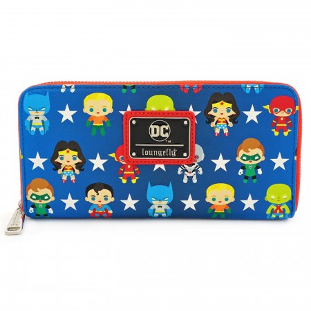 Justice League Chibi Zip Around Wallet