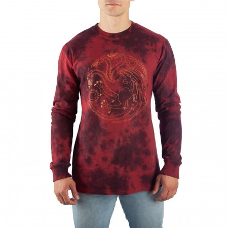 Game of Thrones Targaryen Long Sleeve Acid Wash T-Shirt