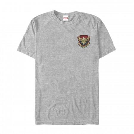 Captain Marvel Star Symbol Woven Print Men's T-Shirt