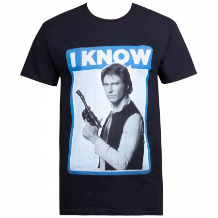 Star Wars Han Solo Quote I Know Men's T-Shirt