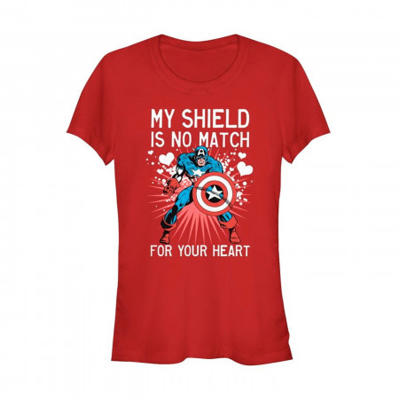 Valentine's Captain America No Shield For Heart Women's T-Shirt