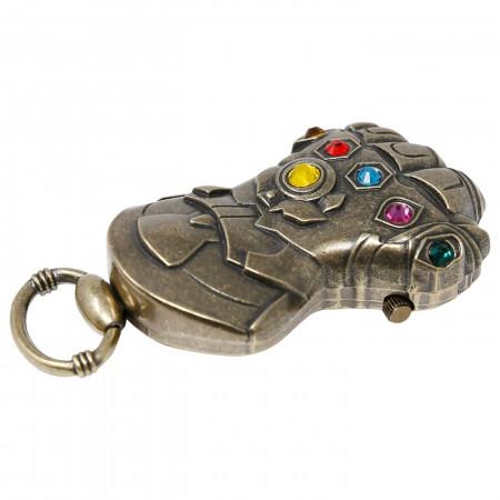 Avengers Endgame Movie Thanos Gauntlet Pocket Watch