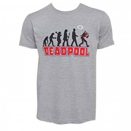 Deadpool Evolution Grey Men's T-Shirt