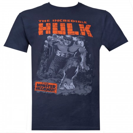 Incredible Hulk Breakthrough Indigo Men's T-Shirt
