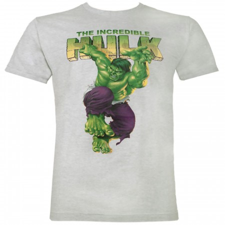 The Incredible Hulk Jump Men's Grey T-Shirt