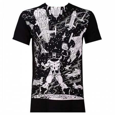 Thanos VS. Spaceships Black Men's T-Shirt