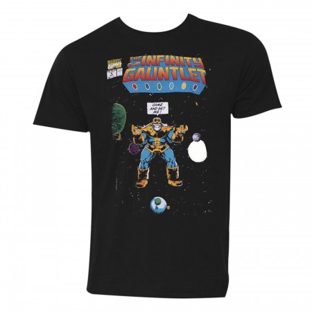 Thanos Come and Get Me! Black Men's T-Shirt