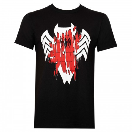 Venom Transforming Spider-Man Men's Black T-Shirt