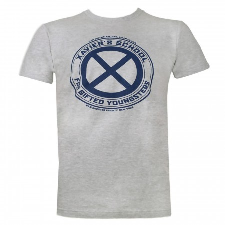 X-Men Xavier's School Men's Grey T-Shirt