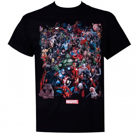 Marvel Universe Black Men's T-Shirt