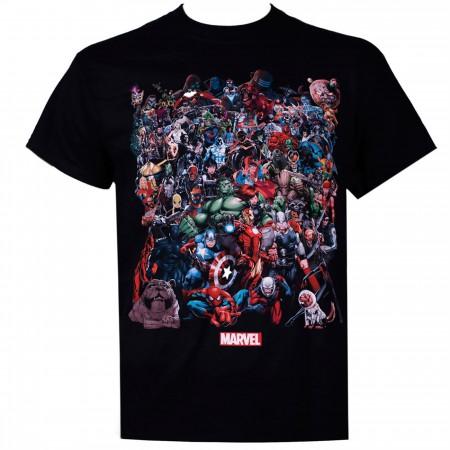 Marvel Universe Black Men's T-Shirt