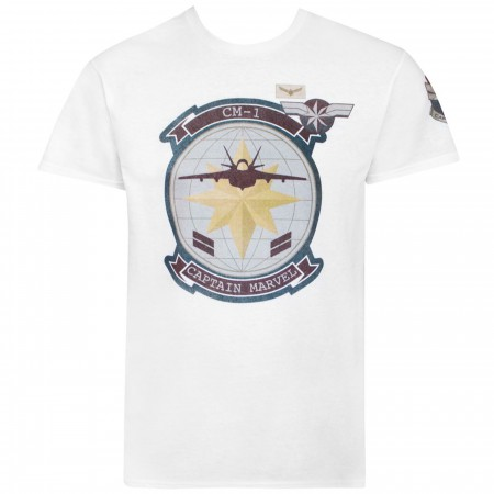 Captain Marvel Movie CM1 Fighter Jet Men's T-Shirt