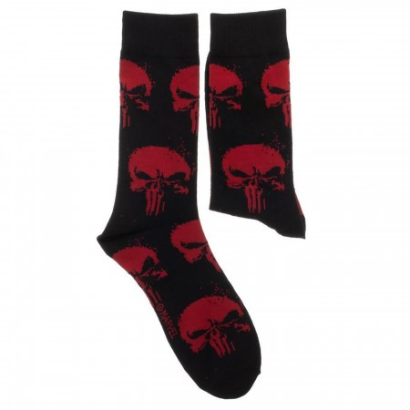 Marvel Punisher 2 Pack Crew Socks